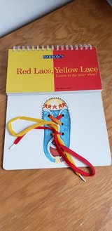 Red Lace Yellow Lace Learn to Tie Your Shoe Interactive Book in Yorkville, Illinois