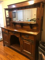 Antique Wood Buffet with Hutch in Yorkville, Illinois
