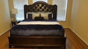 Black Leather Tufted Headboard KING in Spring, Texas