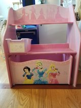 Wooden Disney Princess 1 Bin Organizer with Roll Out Toy Box in Pretty Pink in Yorkville, Illinois