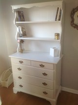 Painted white dresser with shelves in Aurora, Illinois