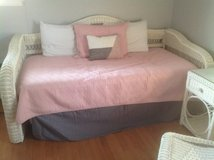 White wicker day bed in Chicago, Illinois