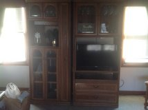 2 piece Entertainment Center/bar/bookcase in Glendale Heights, Illinois