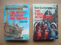BOOKS:  (1) Mutiny on the Bounty (1) the Three Mutketeers in Ramstein, Germany