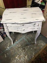 Small in table 2 drawers 14 1/2 inches deep 23 inches wide 26 inches tall in Conroe, Texas