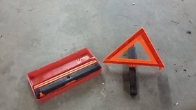 Road Triangles, set of 3 in red plastic box in Fort Leonard Wood, Missouri