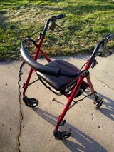Rolling walker with seat in Plainfield, Illinois