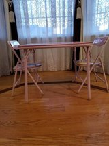 Beautiful Disney Princess Folding Table and Two Chairs In Great Condition in Aurora, Illinois