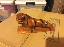 Hand Carved Wooden Tiger in bookoo, US