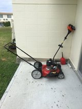 Gas mower and weed eater in Okinawa, Japan