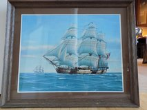 Framed Sailing Ship Poster in Naperville, Illinois