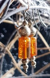 Pretty Earring's with Amber & Silver in Spring, Texas