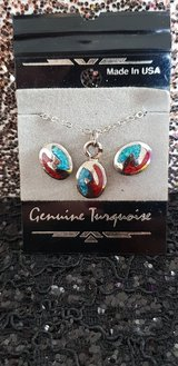 Necklace & Earrings Genuine turquoise in Spring, Texas