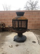 outdoor wood burning fire pit in Alamogordo, New Mexico