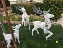 3 Outdoor Christmas Reindeer with lights in Vacaville, California