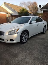 2013 Nissan Maxima S White 4DR V-6 3.5L CVT (Needs Transmission Repair) in Camp Lejeune, North Carolina