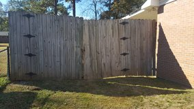 Wood fencing in Fort Benning, Georgia