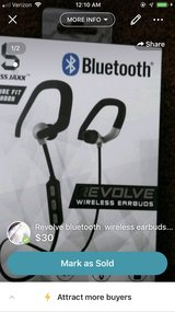 Revolve bluetooth  wireless earbuds ...new in box in Clarksville, Tennessee