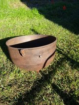 Rusty cast iron pot in Cleveland, Texas