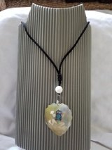 Mother of Pearl frog necklace in Okinawa, Japan