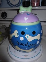 DOG TREAT JAR  designer  Sally Noll in Cherry Point, North Carolina