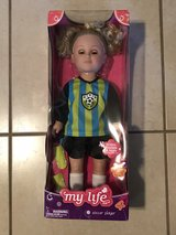 """My Life 18"""" Doll Soccer Player Brand New in Box in Travis AFB, California"""