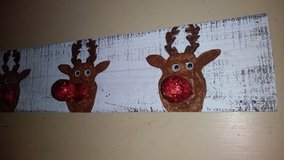 Reindeer stocking holder in The Woodlands, Texas