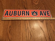 Auburn metal sign in Fort Rucker, Alabama