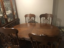Dining table/8 chairs/cabinet in Tacoma, Washington