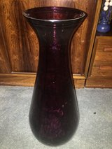 Tall, purple glass vase in Fairfield, California