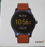 Fossil Q Marshal 45mm Brown Leather Smartwatch  (2nd generation) in Naperville, Illinois