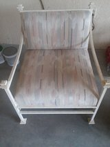 WROUGHT IRON UPHOLSTERED CHAIR in 29 Palms, California