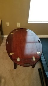 Vintage cherrywood rustic butler's coffee table in Beaufort, South Carolina