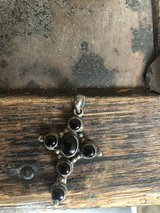 Vintage Sterling Silver Cross with Onyx Stones in bookoo, US