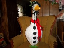Snowman Geese Outfit Outdoor Lawn Statue in Belleville, Illinois