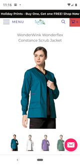 Wonderwink Scrub Jacket (Carribean Blue) Medium in Pasadena, Texas
