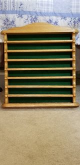 Oak Wood Golf Ball Display Wall Shelf - Holds 40 Golf Balls - A Great Gift for the Golfer in Macon, Georgia