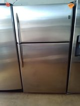 GE Profile stainless steel top & bottom refrigerator. in Fort Bragg, North Carolina
