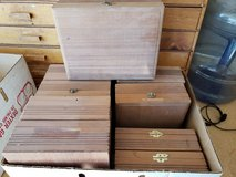 REDUCED 9 Wood cigar boxes in 29 Palms, California