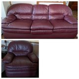 leather sofa bed and recliner in Fairfield, California