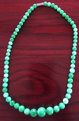 GREEN MALAYSIAN JADE NECKLACE New in Okinawa, Japan