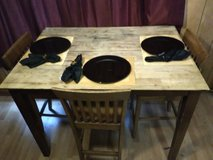 Kitchen table with 3 chair Matt's with plates in Fort Polk, Louisiana