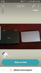 2 laptops . no batteries or chargers .. as is in Fort Campbell, Kentucky