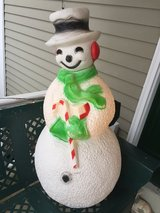 """Vintage Union Blow Mold 40"""" Lighted Snowman Christmas Yard Decoration in St. Charles, Illinois"""