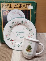 Pfaltzgraff cookies for santa plate and mug in Westmont, Illinois