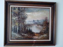 OIL PAINTING ON CANVAS ON WALNUT FRAME in Orland Park, Illinois