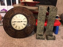 Clock & candle holders in Baytown, Texas