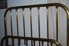 antique brass bed in Beaufort, South Carolina
