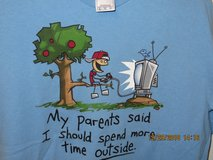 """Boys XL 100% Cotton Graphic Tee """"My parent's said I should spend more time outside"""" in Joliet, Illinois"""
