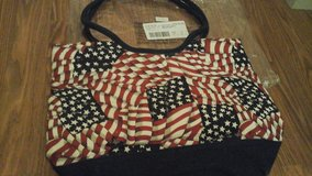 "patriotic red white blue American flag tote bag/purse ""NEW"" in Yorkville, Illinois"
